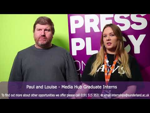 mediaHUB Interns: Paul Nicholson and Louise Barber