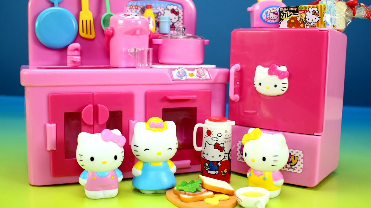 Hello Kitty Toys Set : Kitchen toy hello kitty cooking toys playset for kids