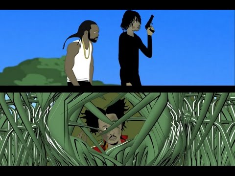 Popcaan Hides From Alkaline | Death To Microwave. [Jamaican Cartoon]