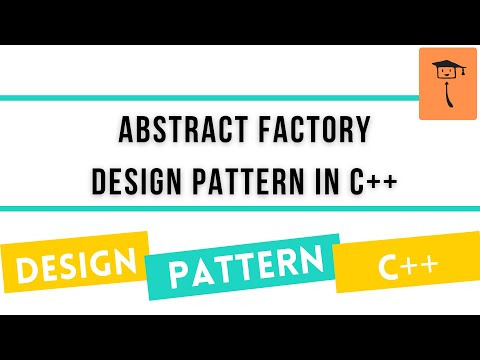 Abstract Factory Design Pattern In C++ - YouTube