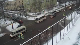 Авария на перекрестке в Красном Селе 17 01 17