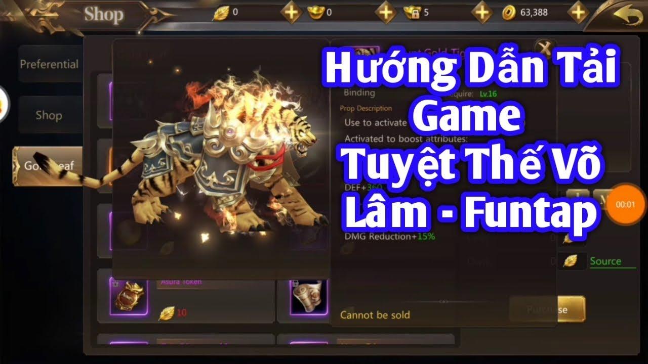 Hướng Dẫn Chơi Trước Game Tuyệt Thế Võ Lâm bản quốc tế - Funtap Phát Hành tại Việt Nam 12/2/2020