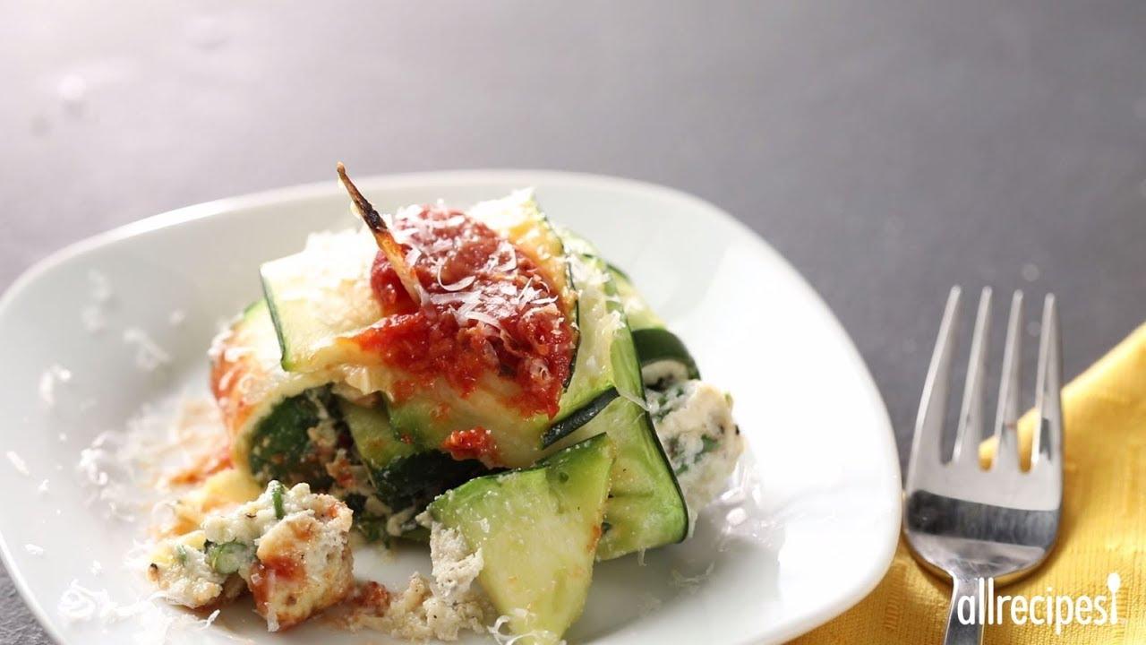 How to Make Zavioli with Spinach and Ricotta | Zoodle Recipes | Allrecipes.com - YouTube