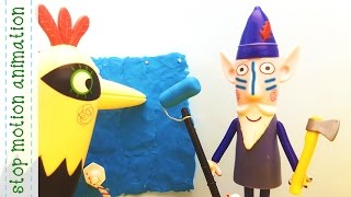 The Elf and Woodpecker's Renovation Ben & Holly's Little Kingdom Stop Motion Animation 3D Characte