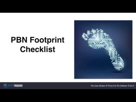 Private Blog Network (PBN) Footprint Checklist