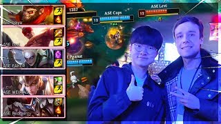 I PLAYED WITH FAKER ON THE SAME TEAM!!! (VS. Most Famous Enemy)