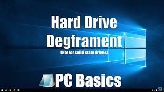 Tech Tip #2: How to de-fragment a Hard Drive(HDD not SSD)