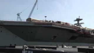 Gerald R. Ford (cvn 78) Moored Pierside At Newport News Shipbuilding