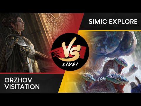 VS Live!   Orzhov Visitation VS Simic Explore   Ravnica Allegiance Previews   Match 1