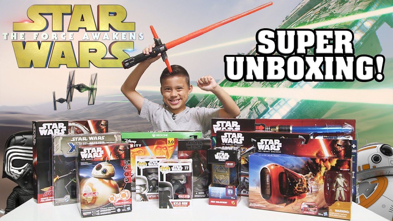STAR WARS Super TOY Unboxing The Force Awakens Surprise Box