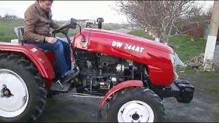 мой новый мини трактор