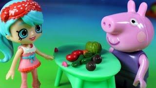 Warzywa - Shopkins & Świnka Peppa - bajka po polsku