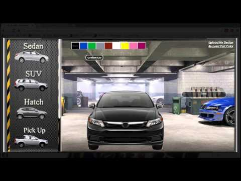 Online Car Customization - YouTube