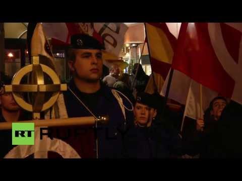 Spain: Right wing supporters commemorate Primo de Rivera's death