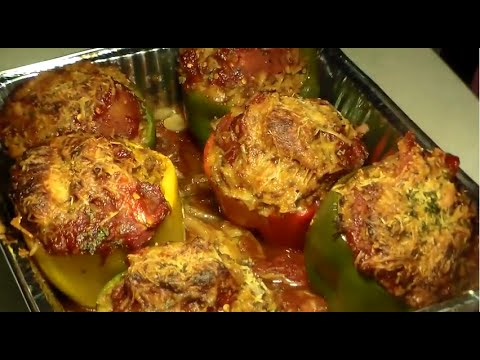 Easy seafood stuffed peppers recipe