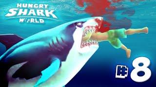 great white shark eats you all hungry shark world   ep8 hd