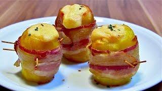Ofenkartoffeln mit Bacon und Käse-Rosmarinkartoffeln-Backofenkartoffeln