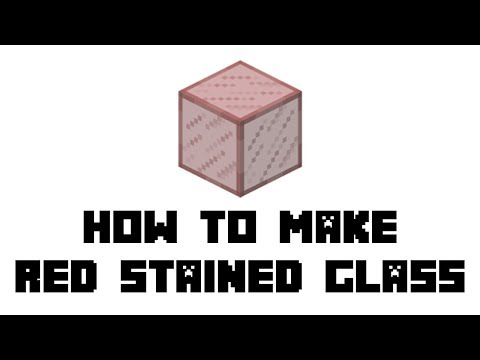 How do you make red stained glass in minecraft