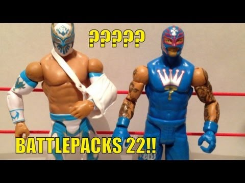 WWE ACTION INSIDER: BP22 Rey Mysterio Sincara Mattel wrestling figures battlepacks series 22