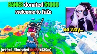 Meet FaZe Clan's NEWEST Sniper... (Fortnite)