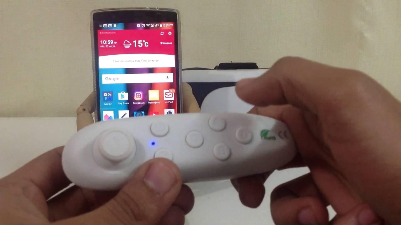 Controle Bluetooth VR Box 2.0   funções extras do controle   óculos de realidade  virtual - YouTube d65480de74