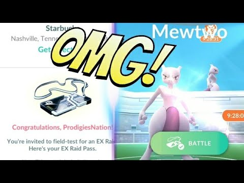 OMFG!! I FINALLY GOT IT!! EXCLUSIVE RAID INVITE FOR MEWTWO + SETTING UP CLASS - POKEMON GO