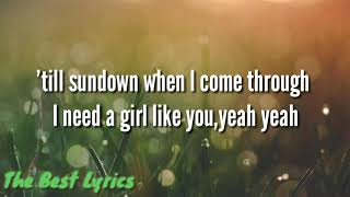 Maroon 5 ft.cardi B - Girls like you  Lyrics