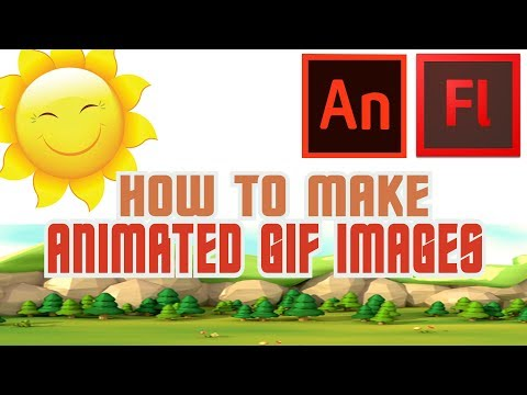 How To Make Animated GIF Images - Tutorial [Animate/Flash]