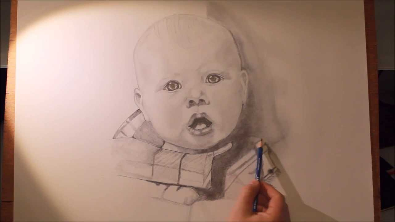 Baby Portrait Drawing - YouTube