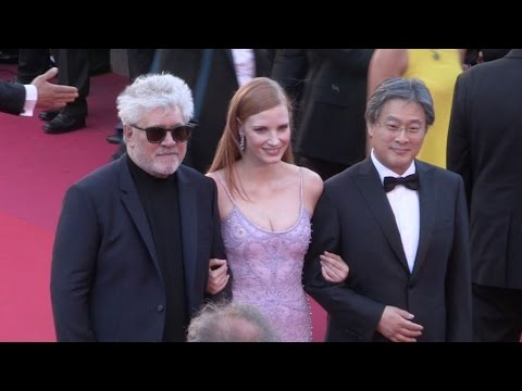 Pedro Almodovar, Jessica Chastain and more on the red carpet for the Premiere of Okja