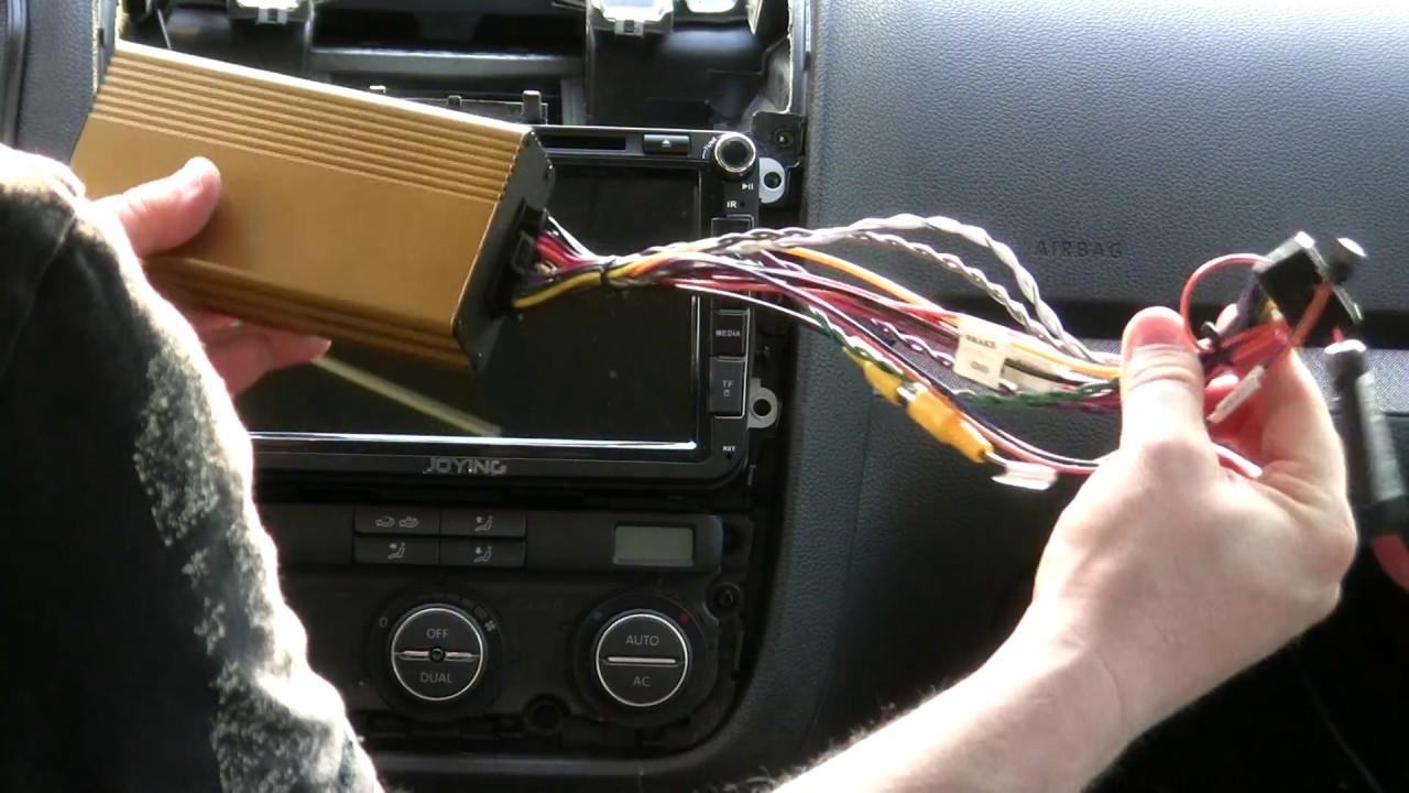 Einbau Joying Digital Amplifier FYT100 für VW DSP
