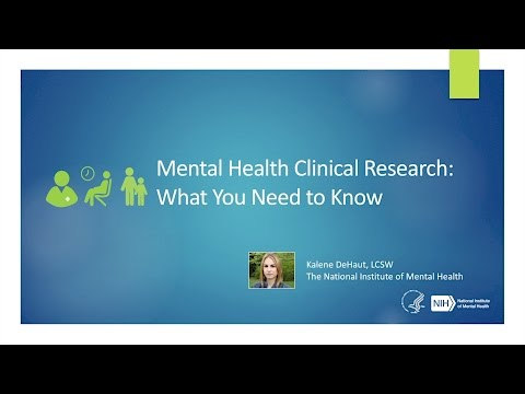 Webinar - Mental Health Clinical Research: What You Need To Know