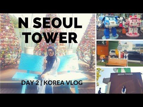 Day 2 in Korea - Part 1   Namsan Cable Car to N Seoul Tower + Cartoon Museum   Korea Vlog