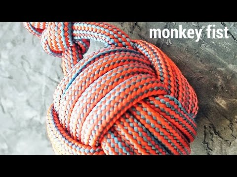 """Как сплести узел """"Кулак обезьяны / Monkey's Fist"""" из паракорда"""