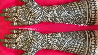 EASY DULHAN MEHENDI DESIGNS | NEW BRIDAL HENNA MEHNDI DESIGN FOR FULL HANDS | WEDDING MEHNDI DESIGNS