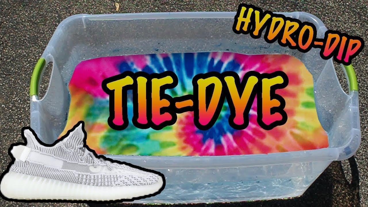 TIE DYE HYDRO Dipping YEEZYS - YouTube