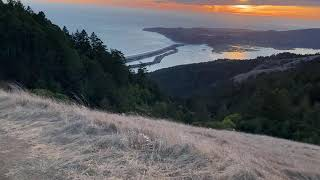 Trail Running Into Stinson Beach (from Mt Tamalpais)