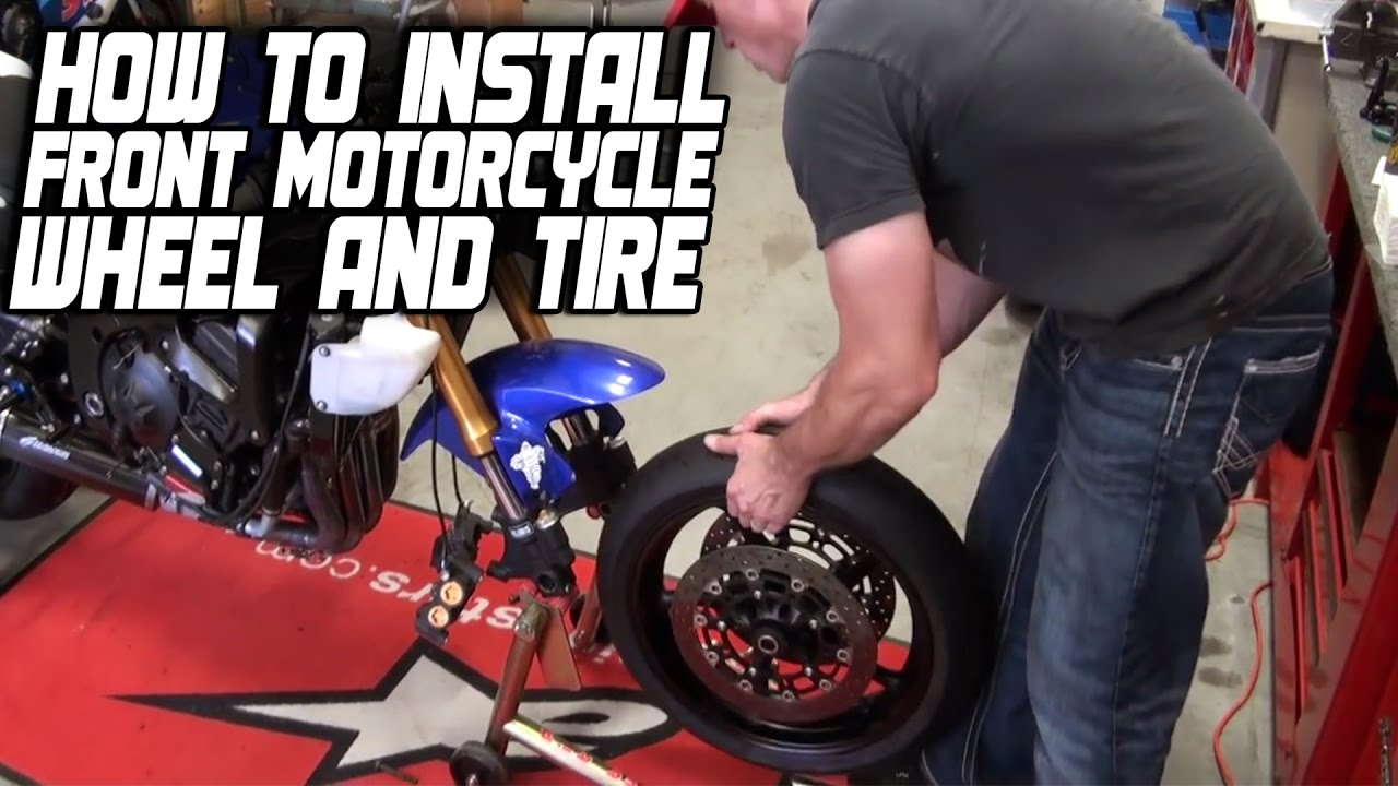 How To Install a Front Motorcycle Wheel and Tire from SportbikeTrackGear com