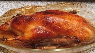 Как приготовить запеченную утку (гуся ) с яблоками. | How to cook baked duck with apples.