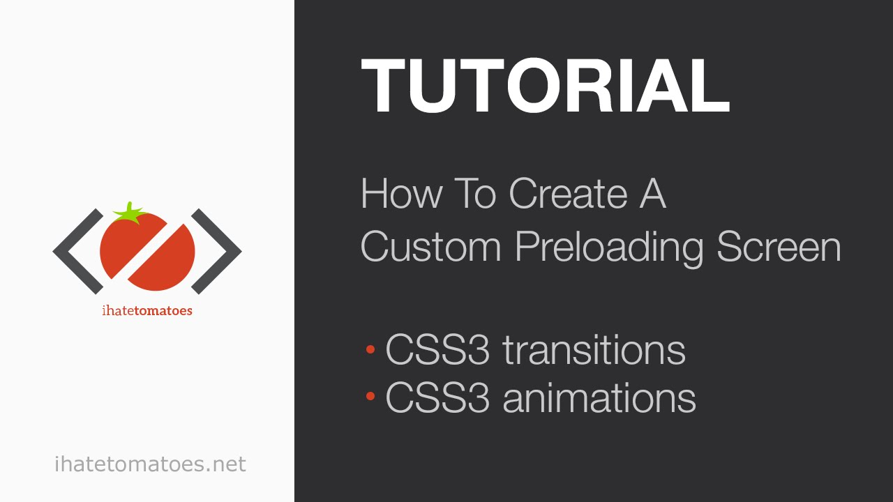 How To Create A Custom Preloading Screen | CSS3 Tutorial