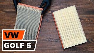 Como cambiar del filtro de aire del motor en VW GOLF 5