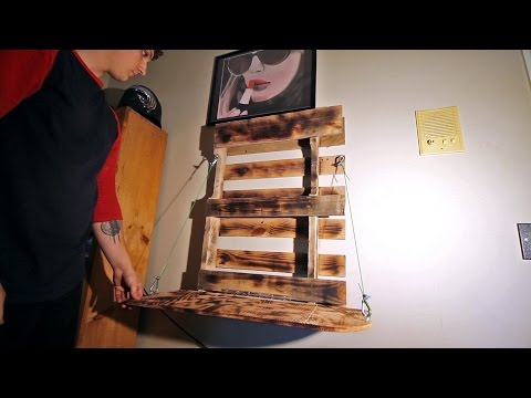 HOW TO make a foldable pallet desk (DIY PROJECT)