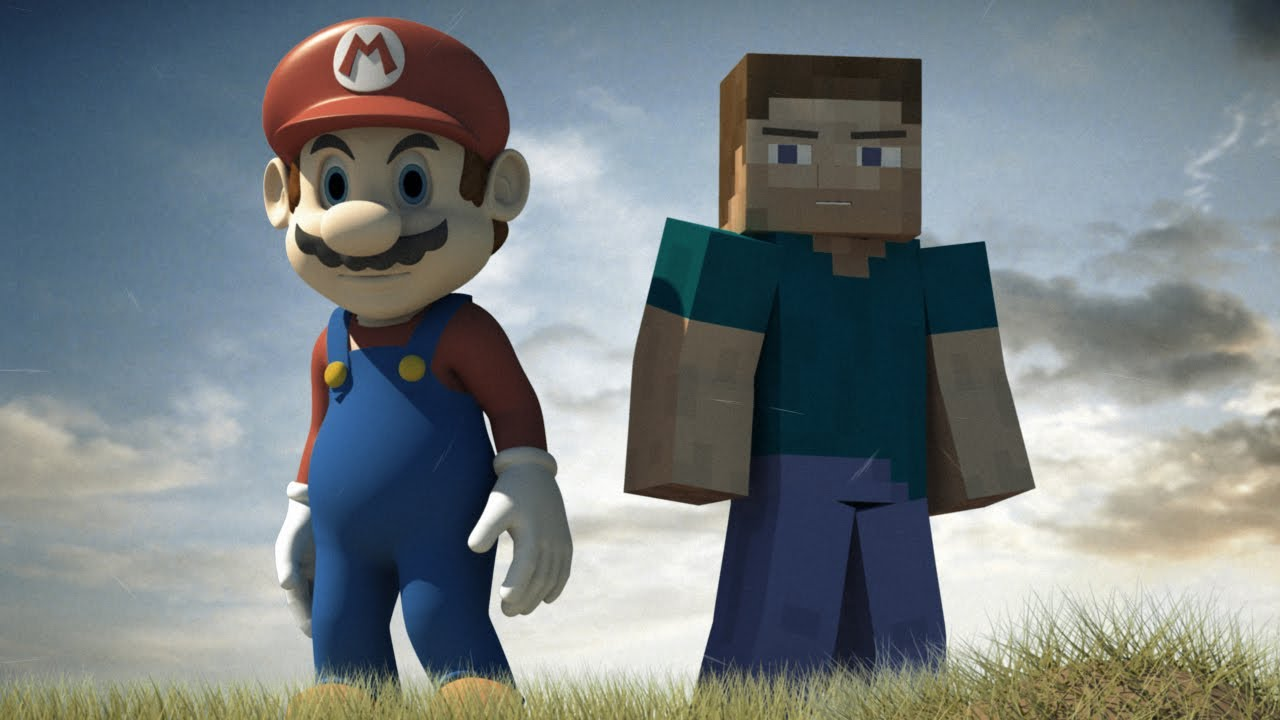 steve and mario cool friend 3d animation youtube