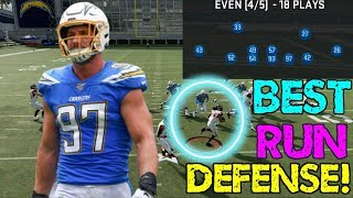 BEST RUN DEFENSE IN MADDEN 20! 3-4 EVEN RUN D CAN'T BE STOPPED!