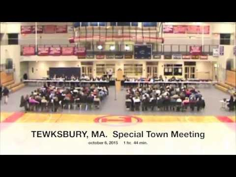 Tewksbury, MA: Special Town Meeting: October 6, 2015: Part 1 of 5*