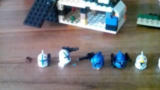 Моя лего самоделка энгри бёрдс звёздные войны войны клонов ганшип и планета Альдеран