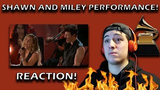 Shawn Mendes and Miley Cyrus Grammys Performance REACTION!