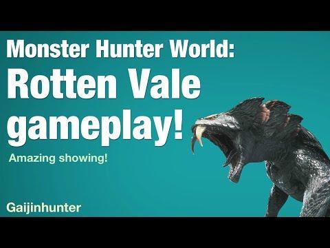 Monster Hunter World: Rotten Vale Gameplay - YouTube