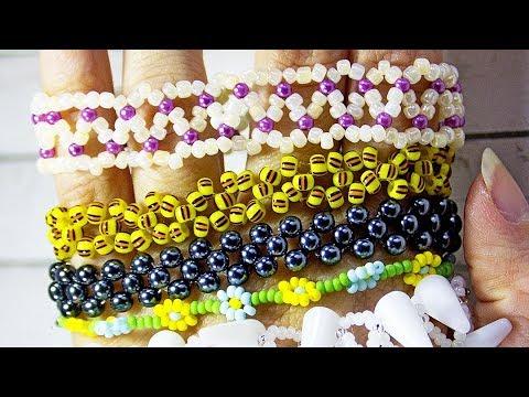 Браслеты из бисера схемы для начинающих детей браслеты