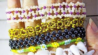 Простые браслеты из бисера своими руками: 3 схемы плетения для начинающих